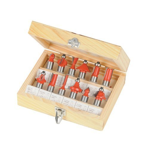 Silverline 1/2″ TCT Router Bit Set 12pce 1/2″ 763555