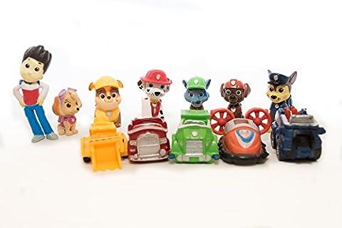 12 Pcs / Set Puppy Dog Toy Childrens Mini Anime