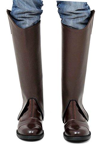 Riders Trend Guêtres en cuir avec doublure Amara Marron - Marron chocolat