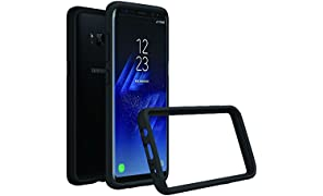RhinoShield Bumper Case FOR GALAXY S8 [NOT Plus] [Crashguard] | Shock Absorbent Slim Design Protective Cover - Compatible w/Wireless Charging [3.5M/11ft Drop Protection] - Black