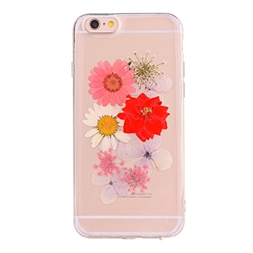 MXNET Case für iPhone 6 & 6s Epoxy Dripping gepresste echte getrocknete Blume weiche transparente TPU Schutzhülle ,Iphone 6/6s Case ( SKU : Ip6g2996a ) Ip6g2996h