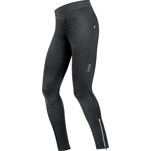 GORE RUNNING WEAR Damen Lange Warme Lauf-Leggings, GORE Selected Fabrics, ESSENTIAL LADY 2.0 Tights, Größe 38, Schwarz, TESSLG (Tights Gore Running)