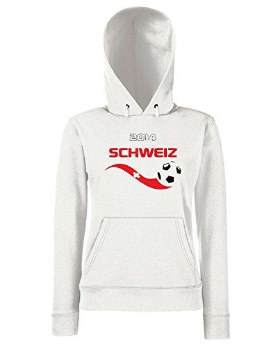 T-Shirtshock - Sweats a capuche Femme WC0129 SVIZZERA Blanc
