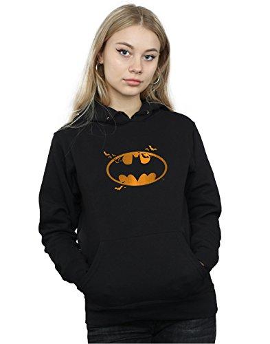 (DC Comics Damen Batman Halloween Logo Kapuzenpullover Small Schwarz)
