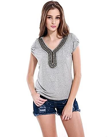 Good dress Short sleeve t-shirt,gray,L