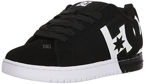 DC Men's Court Graffik sq Skate Shoe, Black/White/Black, 9 D D US - Mens Court Graffik Skate Schuhe