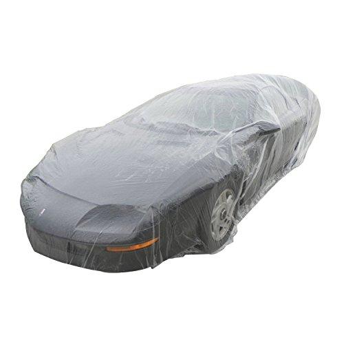Auto Staubschutzhaube - TOOGOO(R) wegwerfbar Kunststoff Auto Abdeckung--- Staubschutz / Regen-Abdeckung / Lack-Abdeckung / --- fuer alle Fahrzeuge (Klein)