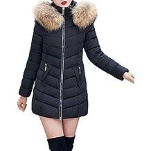 7a8885f527ae Femme Courte Manteau Chaud Mince Veste Blouson Chic Mode Casual Grande  Taille GongzhuMM (3X-
