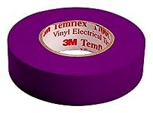 3 M tvio1510 Temflex 1500 vinyle électrique Ruban isolant, 15 mm x 10 m, 0,15 mm, violet
