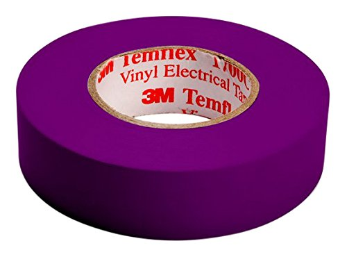 3m tvio1510temflex 1500vinile nastro isolante elettrico, 15mm x 10m, 0,15mm, viola