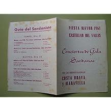 Programa - Program : FIESTA MAYOR 1961 - CASTELLAR DEL VALLES - Conciertos de Gala Sardanas