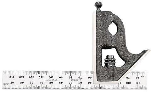 Starrett équerre combinée avec tête droite 150 mm (métrique 11MH