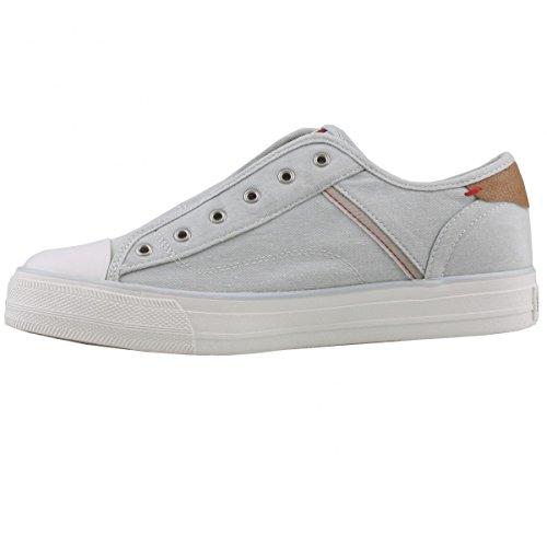 Mustang Damen 1272-401-932 Slip on Sneaker, Grau (Silbergrau 932), 39 EU
