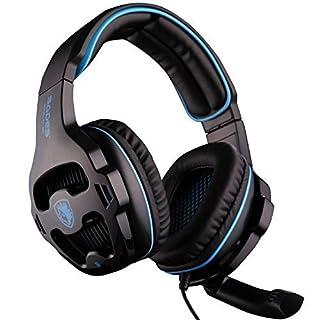 2016 Newest Sades sa-810 Multi-Plattform PS4 Gaming Headset, Wired Over-Ear-Kopfhörer mit Mikrofon Revolution für PS4 New Xbox One PC MAC Laptop iPad iPod neuen (schwarz)