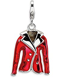 Sterling Silver 3-D Enameled Snorkles with Lobster Clasp Charm
