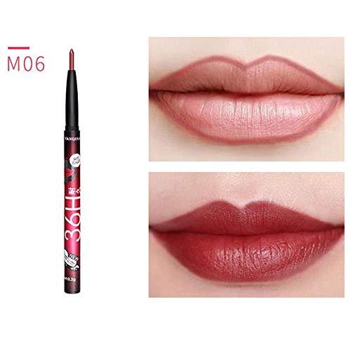 Matte Lip Liner Lippenkonturenstift, Ultra Fine Dauerhafte Lange Wasserdichte Feuchtigkeitsspendende...