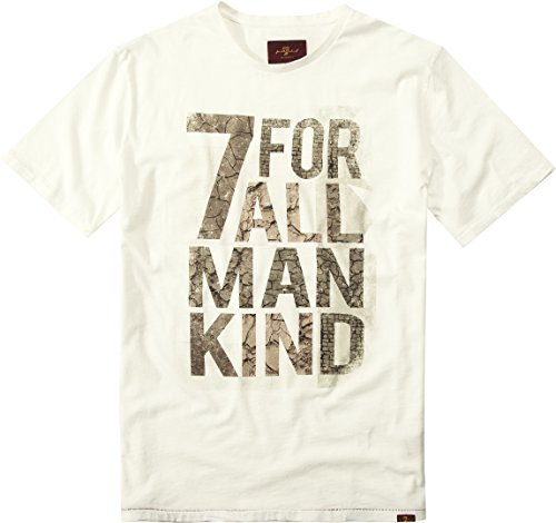 7 For All Mankind T-shirts (7 for all mankind Herren T-Shirt Shortsleeve, Größe: XL, Farbe: Beige)