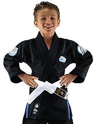 Bõa Leão Kimono de jiu jitsu para niño, Niño, color negro, tamaño small