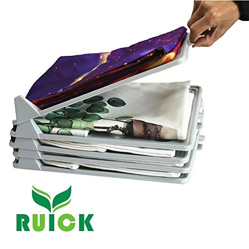 Ruick Brillant T-Shirt Kleiderschrank-Organizer, faltbar und Wäsche
