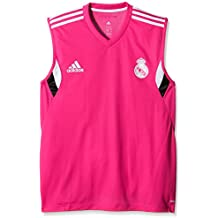 Adidas ärmelloses  Real Madrid Training - Camiseta sin mangas de escalada para hombre, color Rosa, talla M