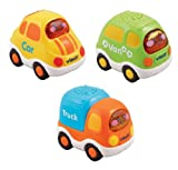 VTech Baby 205703 Toot-Toot Drivers Everyday Vehicles - Multi-Coloured, Pack of 3
