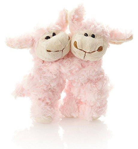 HanSen Plüsch Schaf Pärchen / Mrs & Mrs / Stofftier Kuscheltier Plüschtier / 20 cm / pink rosa / für Kinder oder lesbische Paare