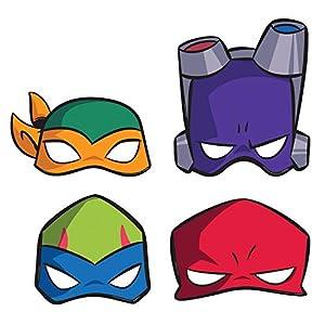 Amscan International Amscan 3600000 - Juego de 8 máscaras para niños, diseño de las Tortugas Ninja