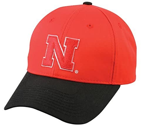 2012 NCAA Adult NEBRASKA CORNHUSKERS Red/Black Hat Cap Adjustable Twill New by Authentic Sports Shop