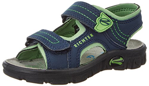 Richter Kinderschuhe Jungen Adventure Sandalen, Blau (Atlantic/Apple), 25 EU