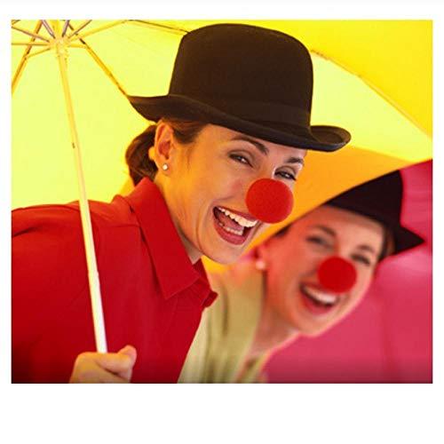 Zubehör Kostüm Elizabeth Queen - YAX Masken 50 Stücke 5 cm Red Clown Nase Schaum Zirkus Comic Nasenmaske Partei Liefert Halloween Zubehör Kostüm Magie Kleid Partei Liefert