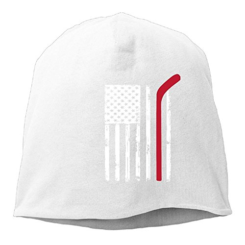 ghkfgkfgk Unisex American Flag Hockey Fashion Soft Daily Beanie Hat Skull Cap -