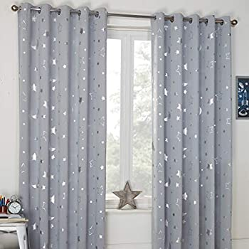 Deconovo Stars Foil Printed Thermal Insulated Curtains