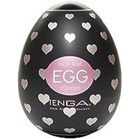Tenga Huevo Lovers, Funda Masturbadora, 4.9 x 6.1 x 4.9 cm, Color Negro/Rosa / Plata - 43 gr