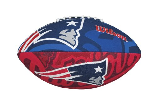 WILSON Football mit dem Logo des NFL Junior Teams, Kinder, WTF1534IDNE, New England Patriots, Für Kinder