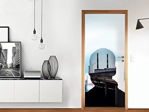 Stickers per porta 83,5 x 197 cm (max.) | Decorazione cucina Sticker adesivo per porta autoadesivo - Come rinnovare porta porta del salotto | Design Kopfkino