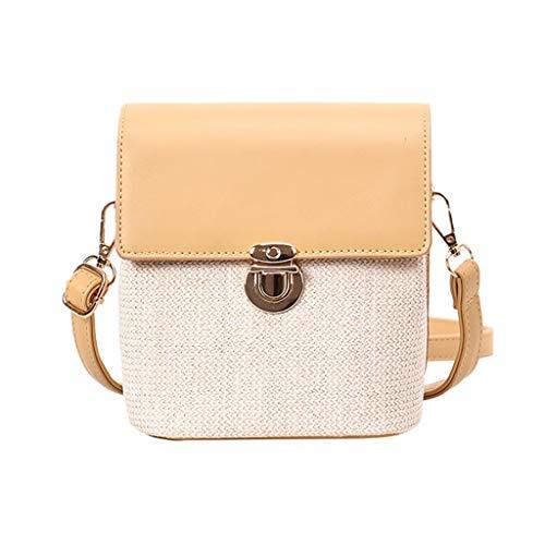 Mitlfuny handbemalte Ledertasche, Schultertasche, Geschenk, Handgefertigte Tasche,Frauen New Fashion Wild Kontrast Bucket Bag Messenger Schultertasche Weben Tasche