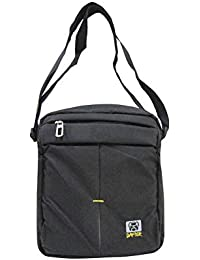 Dafter Travel Sling Bag - Black Water Resistance Polyester Bag With Multiple Pockets And Padded Section For IPad...