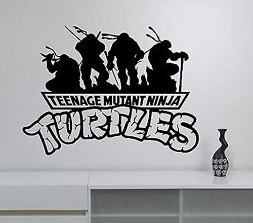 Wandtattoo Schlafzimmer Ninja Turtles Wandtattoo Superheld Film Aufkleber Vinyl Cartoon Kunst Kinder Jungen Room Decor (Ninja Turtle Decor Room)