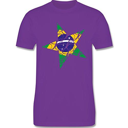 Länder - Brasilien Stern - Herren Premium T-Shirt Lila