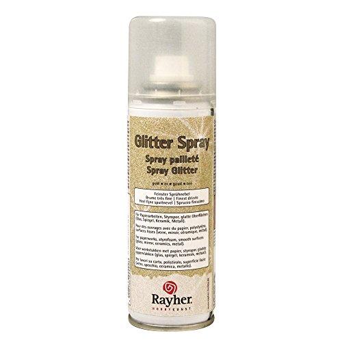 Rayher - 3400106 - Glitter-Spray, 125 ml, gold