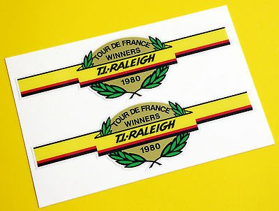 Raleigh Vecchio stile 'Tour De France Vincitori 1980' Bicicletta Adesivi decalcomanie