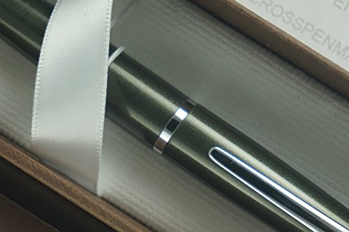 Cross ATX Spruce Green and Polished Appointment with Cross Signature Mid Ring Selectip Rollerball Pen in Cross Gift Box . A Great Birthday, Promotion, Christmas and Corporate Gift. by A.T. Cross (Cross-hochzeit Ringe)