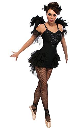 Rubie 's Offizielles Damen Black Swan Ballett Halloween-Kostüm-Kleine (Halloween Swan Black Für)