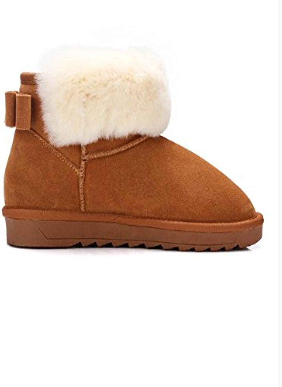 CHENGREN Stivali Stivali Stivali da Neve Invernali da Donna Caldo Spesso  Antiscivolo Caviglia a Tubo Corto a9e07f904e6