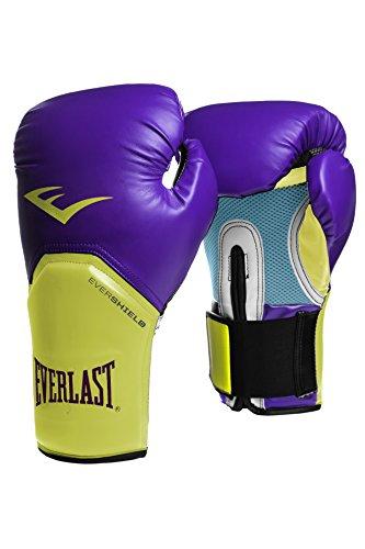 Everlast Boxartikel 2300 Pro Style Elite Gloves Guante de Boxeo, Unisex, Morado/Amarillo, 10