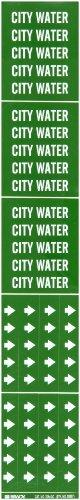 Brady 262-7054-3C Gr-n selbstklemmenden Inchcity Wasser Inch Rohrmarkierer