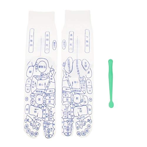 Ipotch calzini zone di riflessologia sicurezza piede agopuntura bastone donna uomo accessori - bianca, s