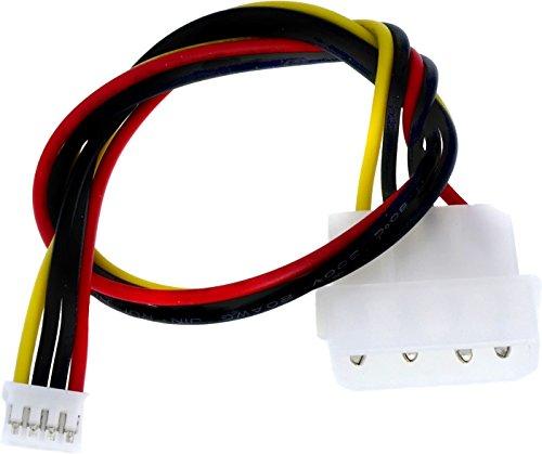 Digital Devices Stromkabel - Sherlock auf 5,25 Molex (w/m) | Länge ca. 25cm | für die Stromversorgung vom PC-Netzteil zu Duoflex Erweiterungen