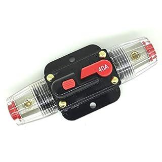 Buwico® DC 12V 20A, 30 A, 50 A, 60 A, 80 A Autoschutz Audio Inline-Leistungsschalter Sicherung