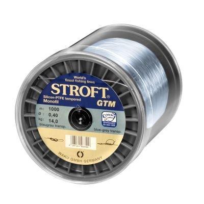 STROFT GTM 1000 m Monofile Angelschnur 0.03 mm bis 0.575 mm Blaugrau transparent (0,325mm-9,3kg)